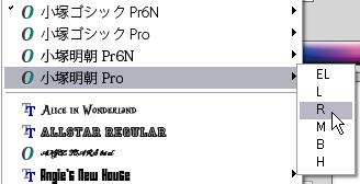 小塚明朝プロ