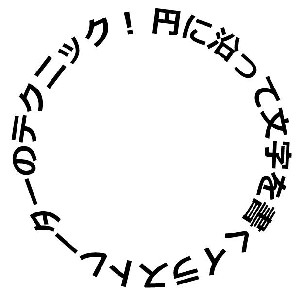 円に沿って文字を書く完成