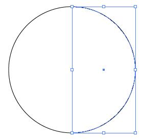 円の右側だけ選択