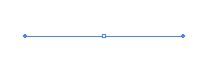アンカーポイントと方向線のみ