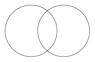 正円2個横並び
