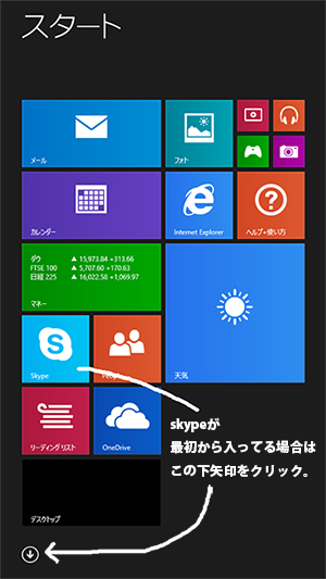 windows8で最初からskypeが入ってる